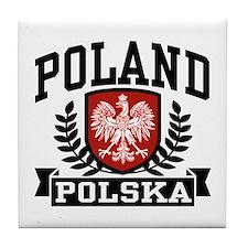 Poland Polska Tile Coaster