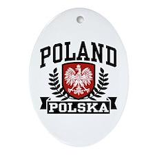 Poland Polska Oval Ornament