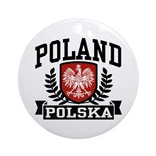 Poland Polska Ornament (Round)