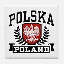 Polska Poland Tile Coaster