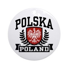 Polska Poland Ornament (Round)