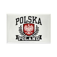 Polska Poland Rectangle Magnet (10 pack)