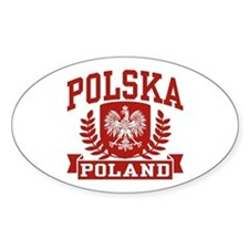 Polska Poland Oval Stickers