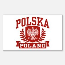 Polska Poland Rectangle Stickers