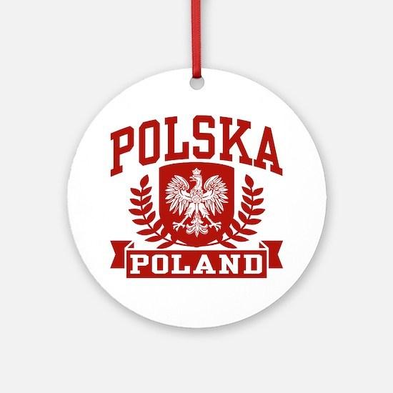 Polska Poland Ornament (Round)