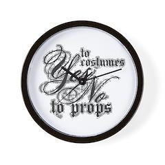Costumes & Props Wall Clock