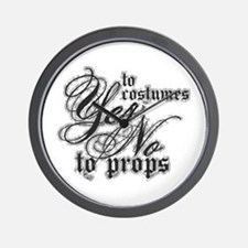 Costumes & Props Wall Clock
