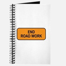 End Road Work Sign Journal