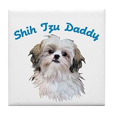 Shih Tzu Daddy Tile Coaster