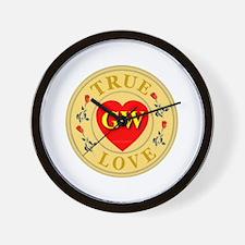 GW True Love Golden Seal Wall Clock