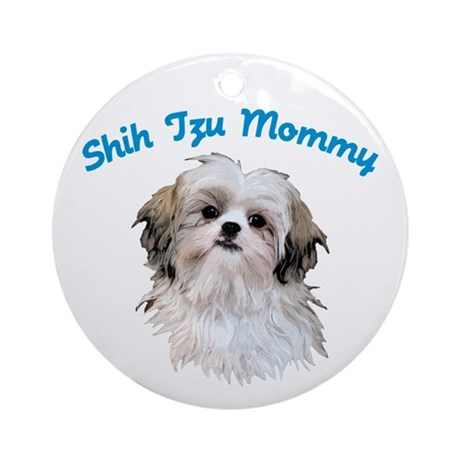 Shih Tzu Mommy Ornament (Round)