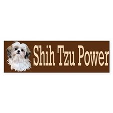 Shih Tzu Power Bumper Sticker