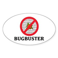 Bug Buster Oval Decal