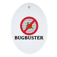 Bug Buster Oval Ornament