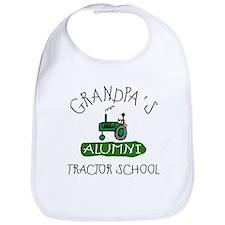 Grandpa's Tractor School Bib