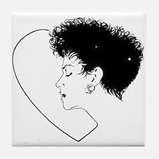 80's Punk Chick Tile Coaster