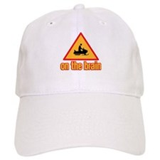 Warning Snowmobile on the Brain Hat