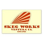 Skeg Works Rectangle Sticker