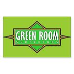 Green Room Rectangle Sticker