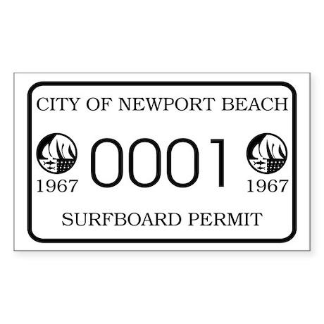 Newport Surfboard Permit 67' Rectangle Sticker