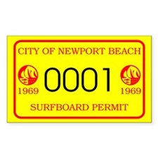 Newport Surfboard Permit 69' Rectangle Decal