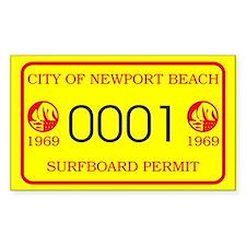 Newport Surfboard Permit 69' Rectangle Decal