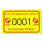 Newport Surfboard Permit 69' Rectangle Sticker