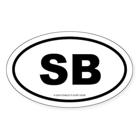 SURFCITY EURO SB Oval Sticker