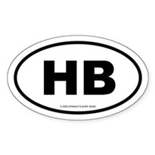 SURFCITY EURO HB Oval Bumper Stickers