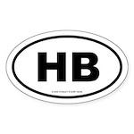 SURFCITY EURO HB Oval Sticker