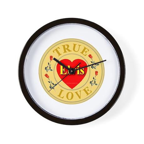 Elvis True Love Golden Seal Wall Clock