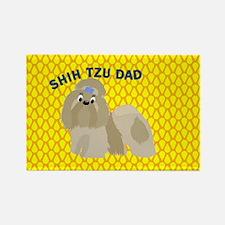 Shih Tzu Dad Rectangle Magnet