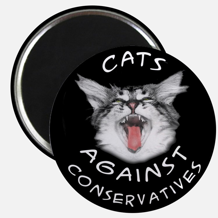 Cats Against Conservatives Magnet