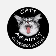 "Cats Against Conservatives 3.5"" Button (100 pack)"
