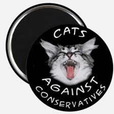 "Cats Against Conservatives 2.25"" Magnet (10 pack)"