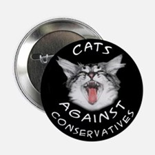 """Cats Against Conservatives 2.25"""" Button (10 pack)"""