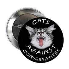 "Cats Against Conservatives 2.25"" Button"