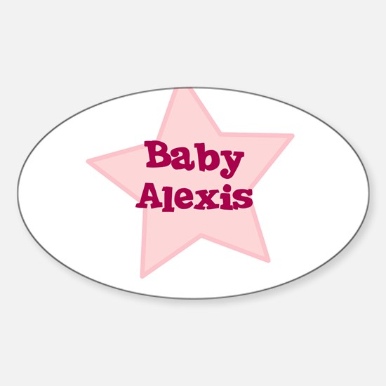 Baby Alexis Oval Decal