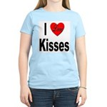 I Love Kisses (Front) Women's Pink T-Shirt