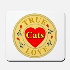 Cats True Lover Golden Seal Mousepad