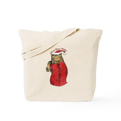 Warm Winter Cat Tote Bag