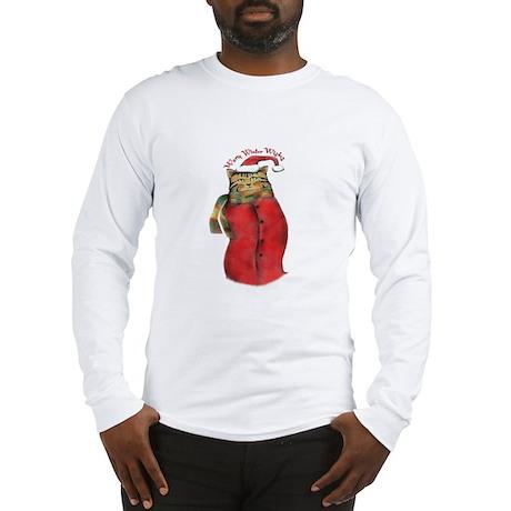 Warm Winter Cat Long Sleeve T-Shirt