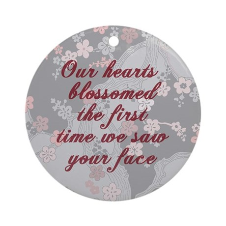 Our Hearts Blossomed Ornament (Round)