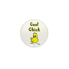 Cool Chick Mini Button (10 pack)