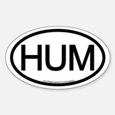 HUM (Humboldt County) Oval Location Decal