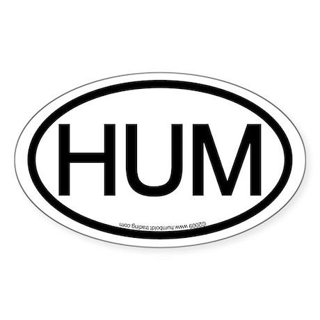 HUM (Humboldt County) Oval Location Sticker