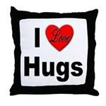 I Love Hugs Throw Pillow