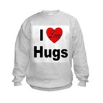 I Love Hugs (Front) Kids Sweatshirt