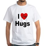I Love Hugs (Front) White T-Shirt