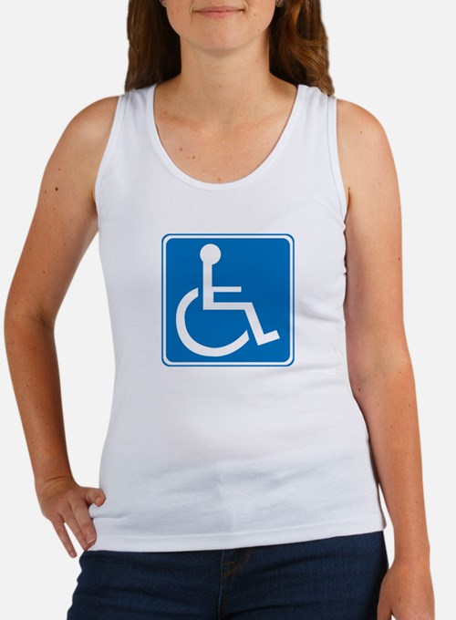 Handicapped Sign Women's Tank Top